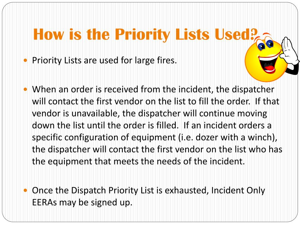 How is the Priority Lists Used?