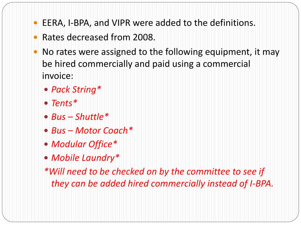 EERA, I-BPA, and VIPR were added to the definitions.