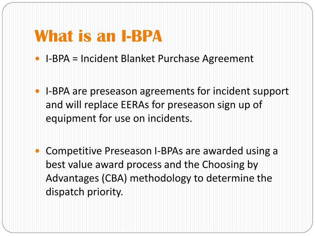 What is an I-BPA