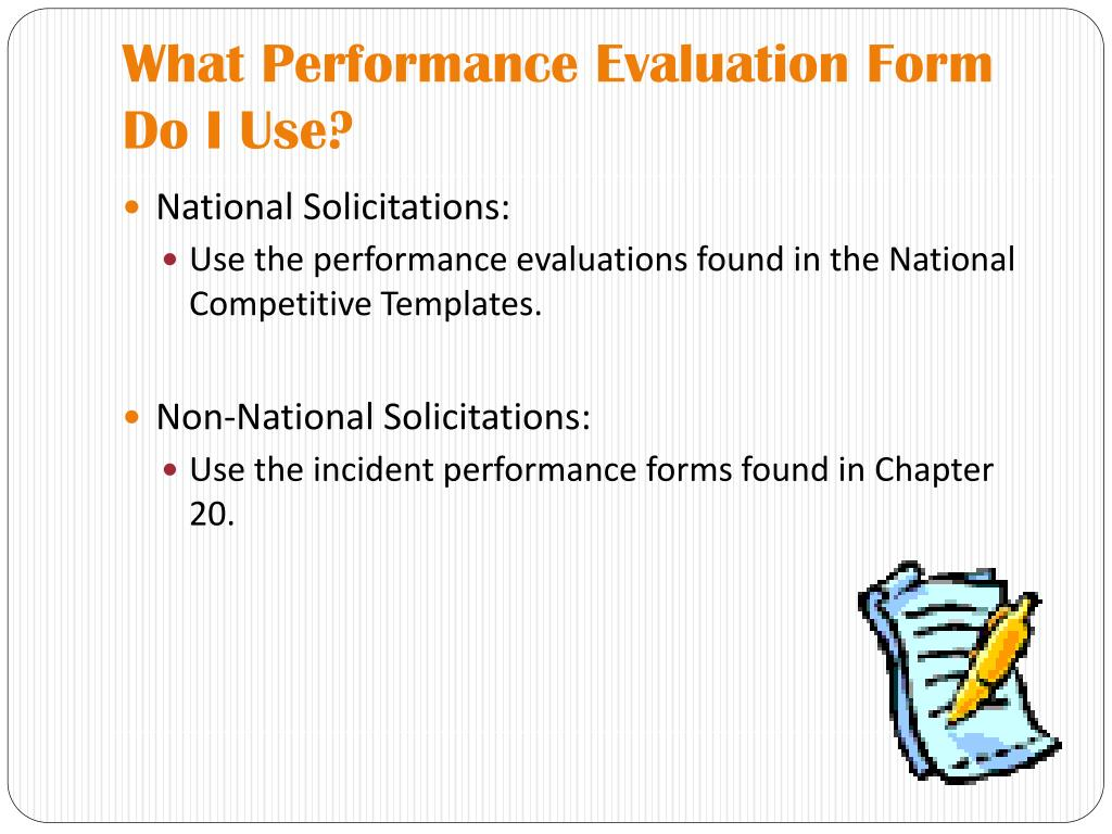 What Performance Evaluation Form Do I Use?