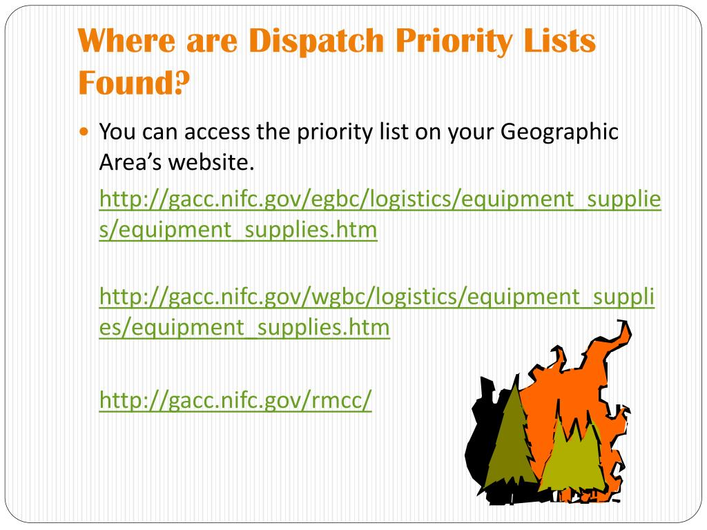 Where are Dispatch Priority Lists Found?