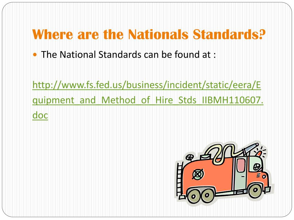 Where are the Nationals Standards?