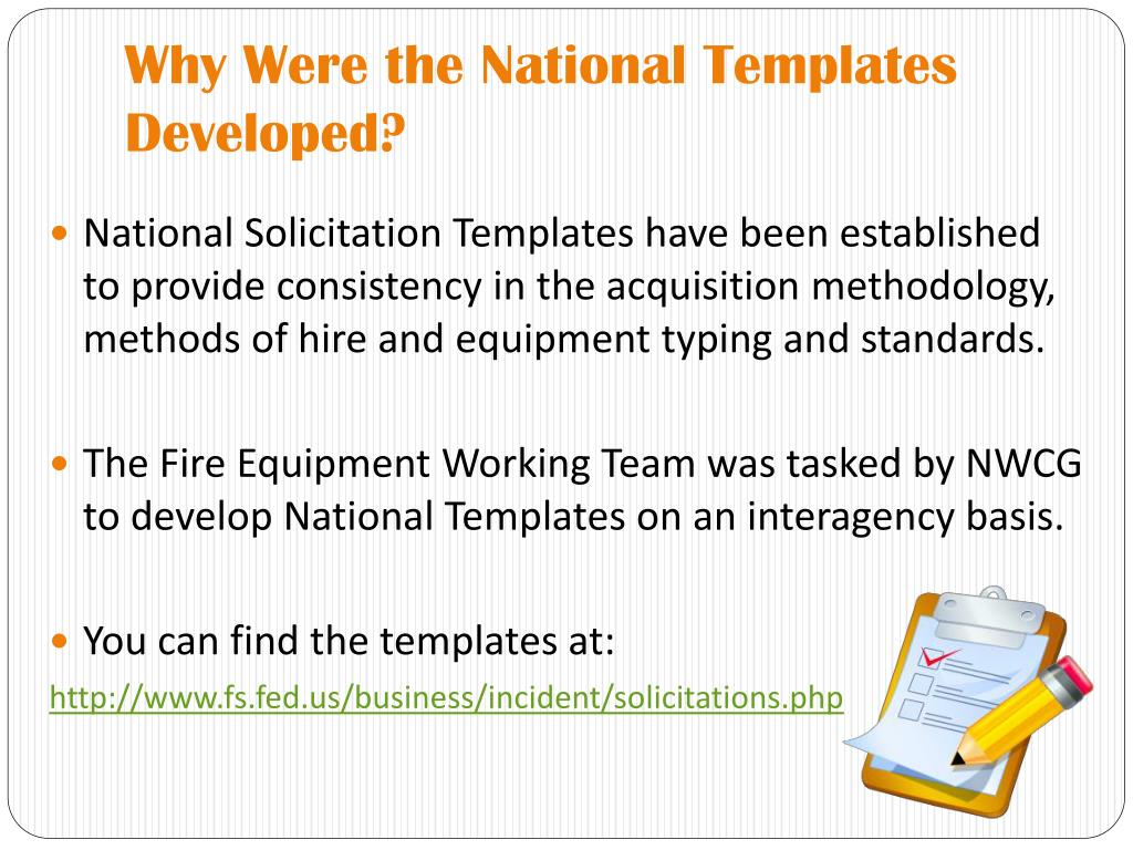 Why Were the National Templates Developed?