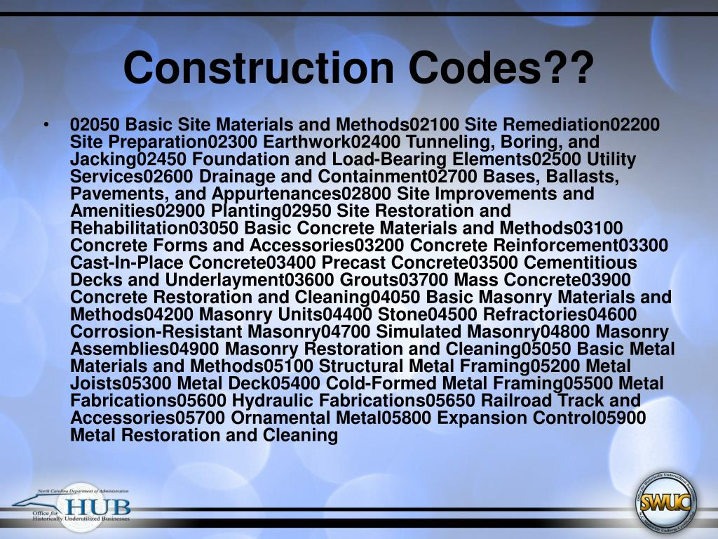 Construction Codes??
