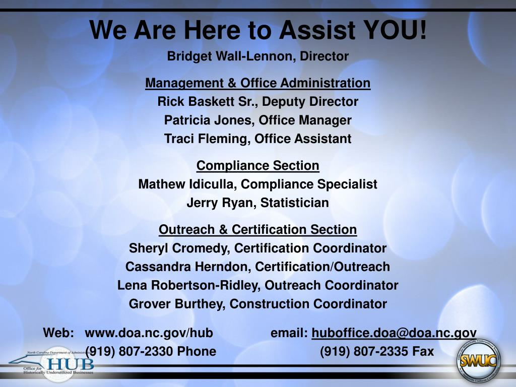 We Are Here to Assist YOU!