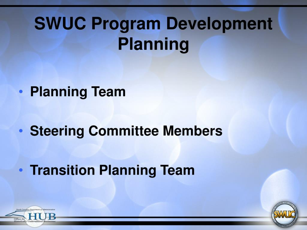 SWUC Program Development Planning