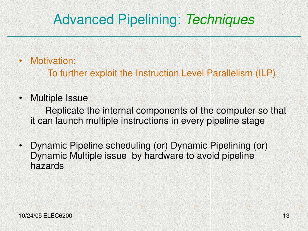 Advanced Pipelining: