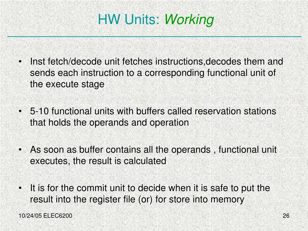HW Units: