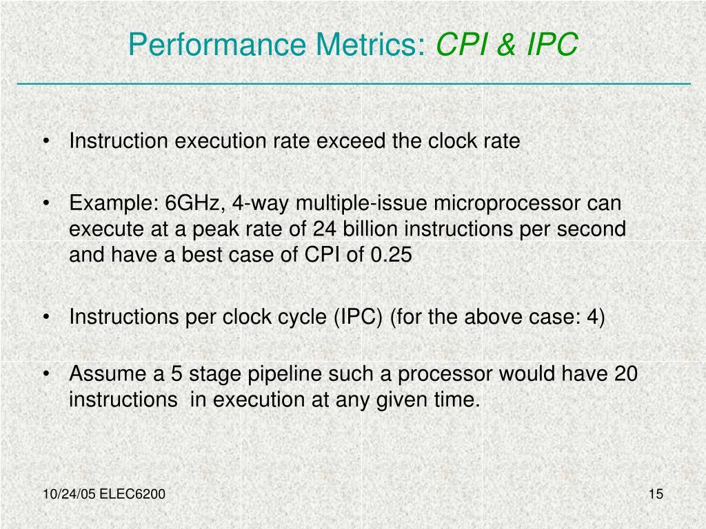 Performance Metrics: