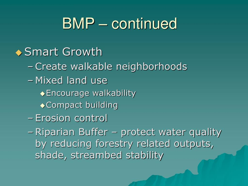 BMP – continued