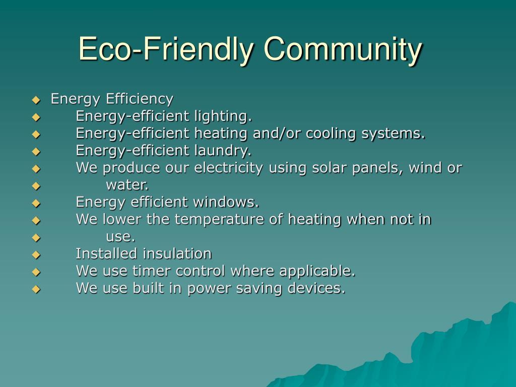 Eco-Friendly Community