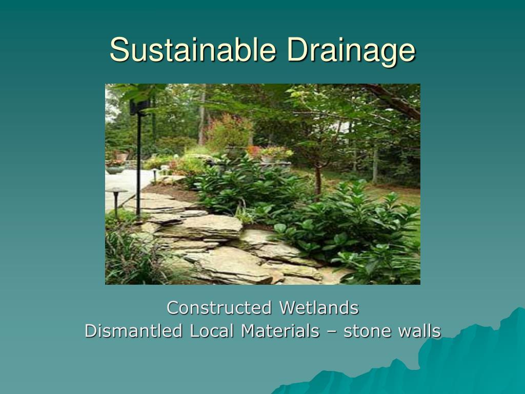 Sustainable Drainage