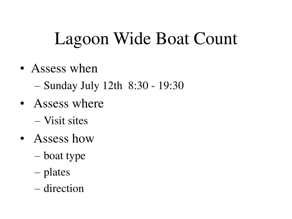 Lagoon Wide Boat Count