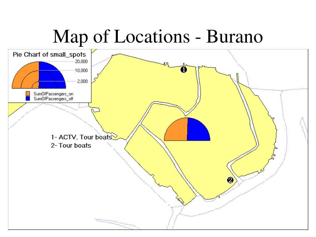 Map of Locations - Burano