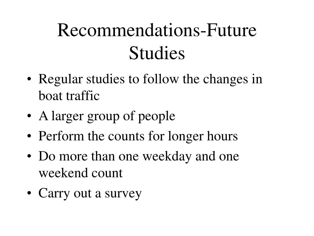 Recommendations-Future Studies