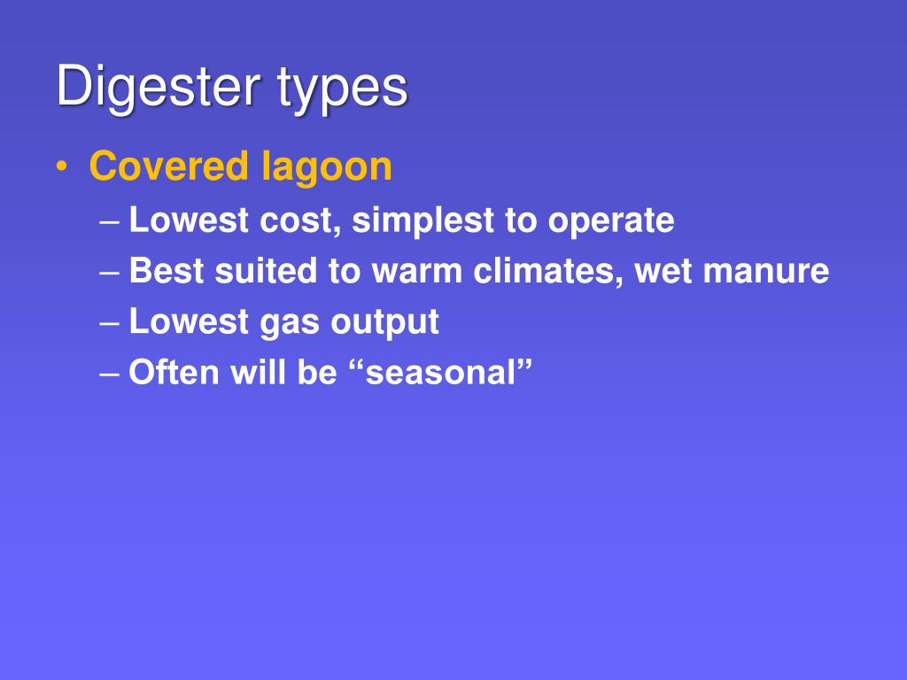 Digester types