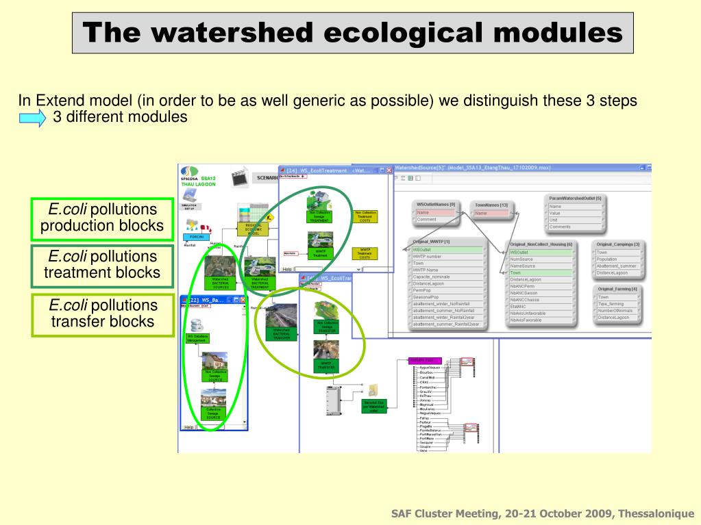 The watershed ecological modules