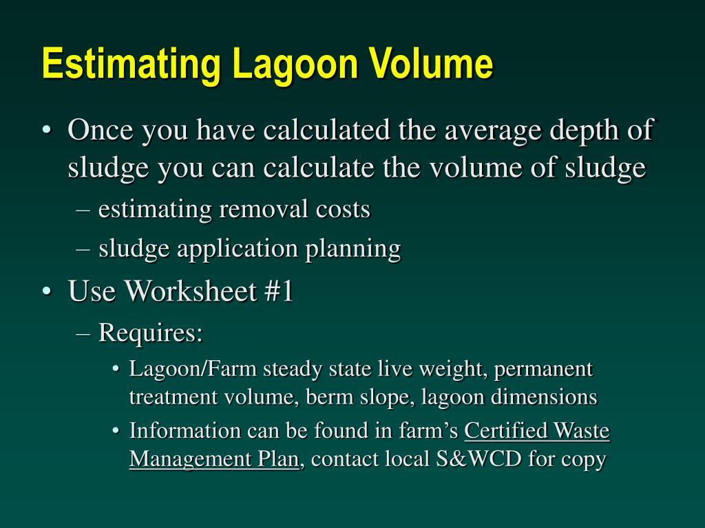 Estimating Lagoon Volume