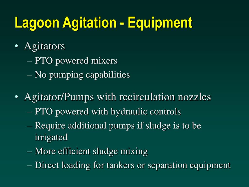 Lagoon Agitation - Equipment