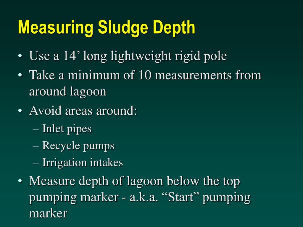 Measuring Sludge Depth