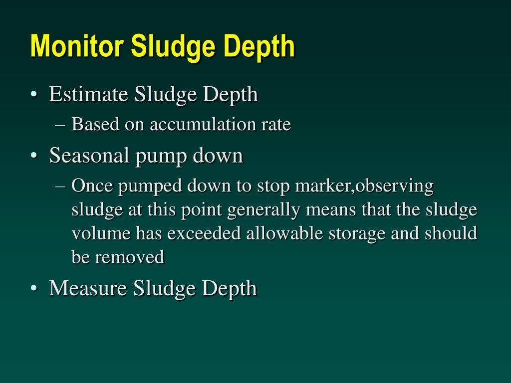 Monitor Sludge Depth