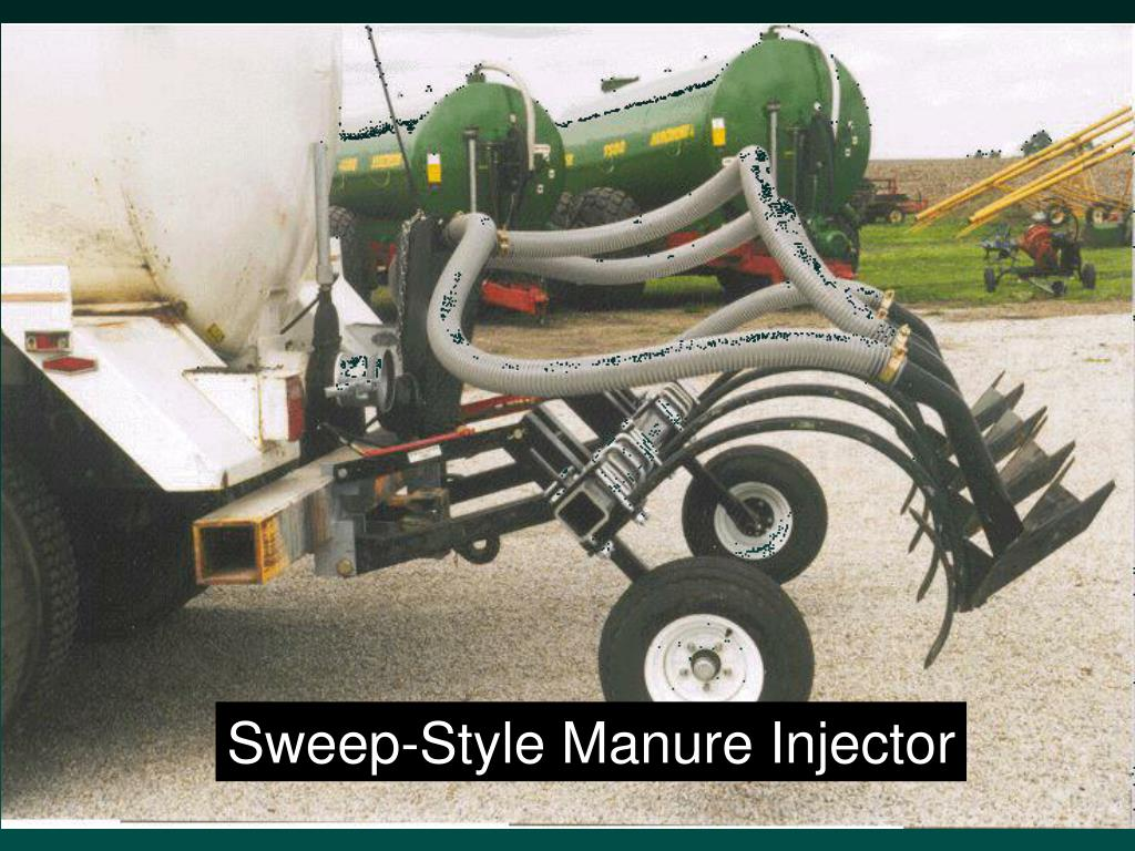 Sweep-Style Manure Injector