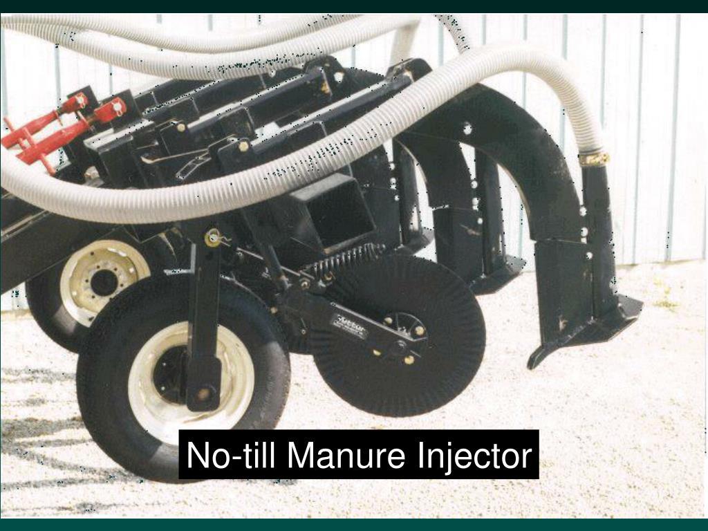 No-till Manure Injector
