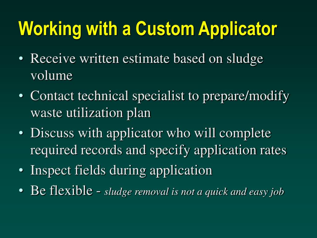 Working with a Custom Applicator