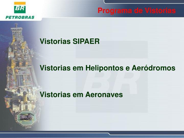 Programa de Vistorias