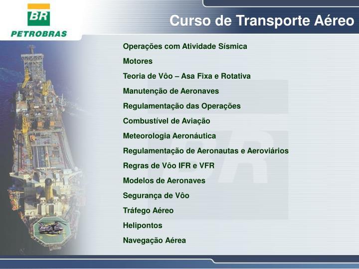 Curso de Transporte Aéreo