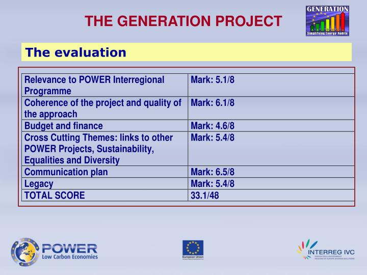 THE GENERATION PROJECT