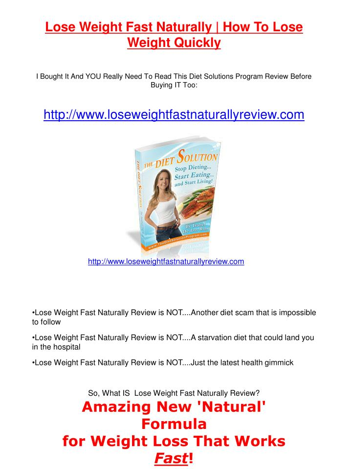 Lose Weight Fast Naturally | How To Lose Weight Quickly