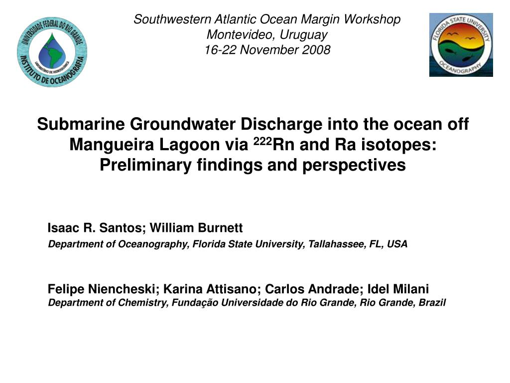 Southwestern Atlantic Ocean Margin Workshop