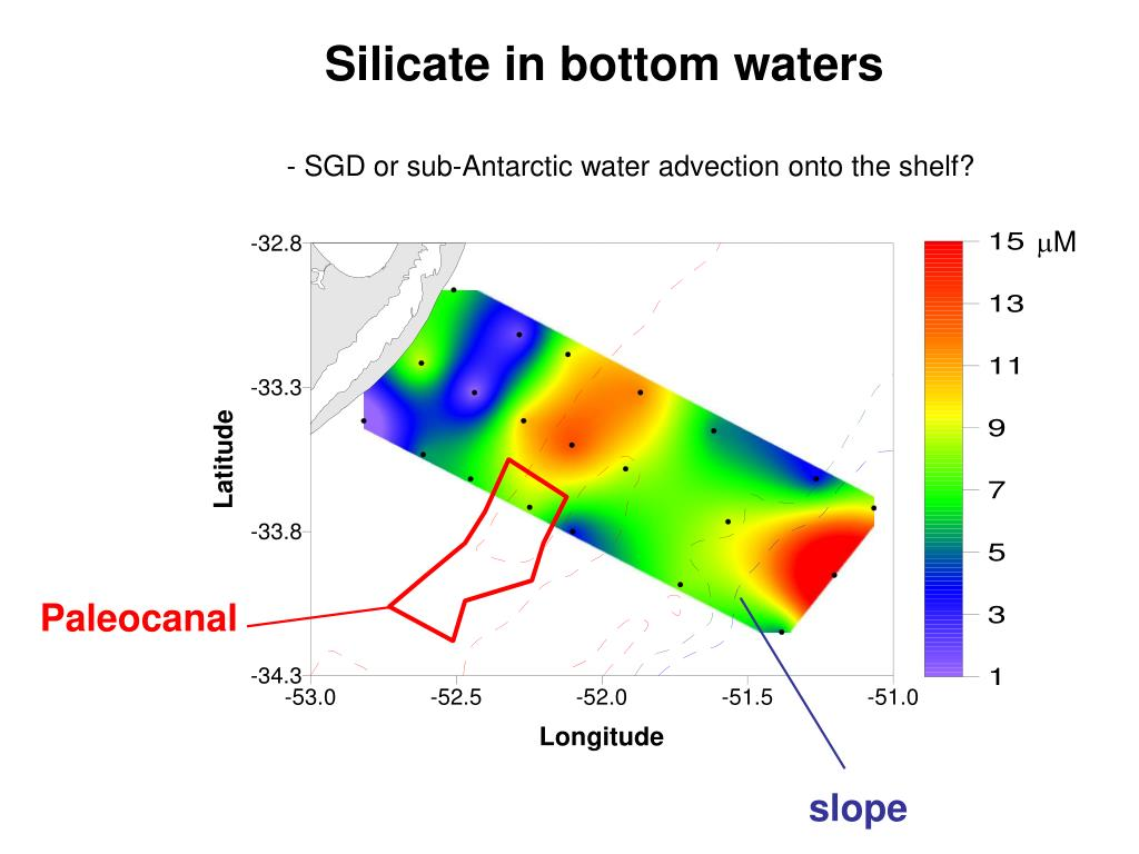 Silicate in bottom waters