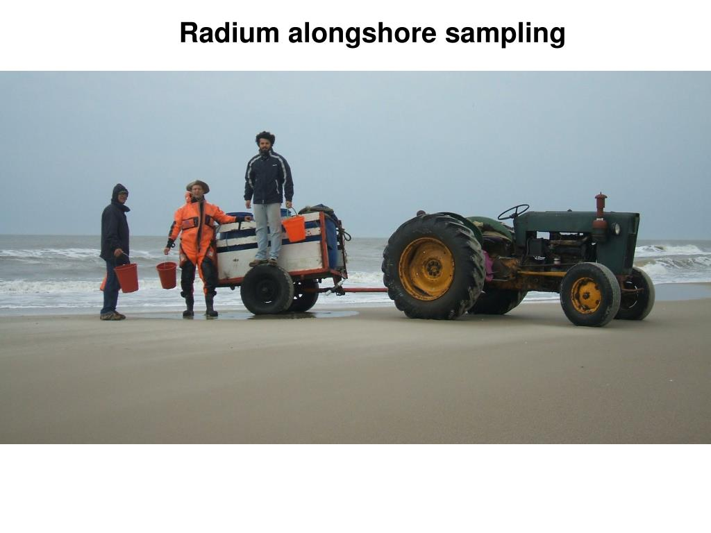 Radium alongshore sampling