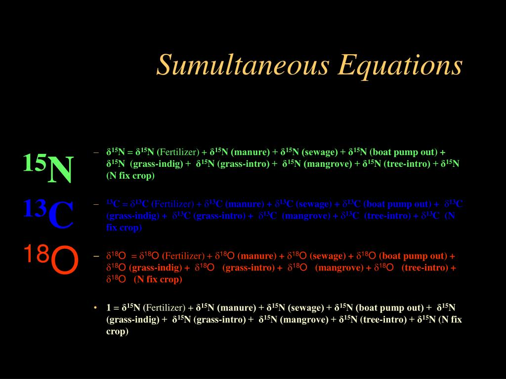 Sumultaneous Equations