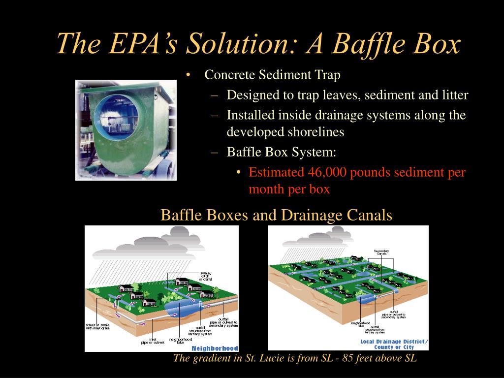 The EPA's Solution: A Baffle Box