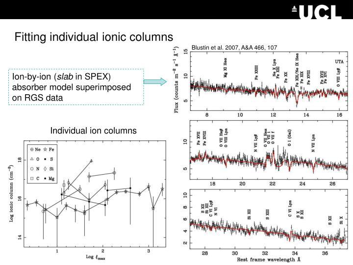 Fitting individual ionic columns