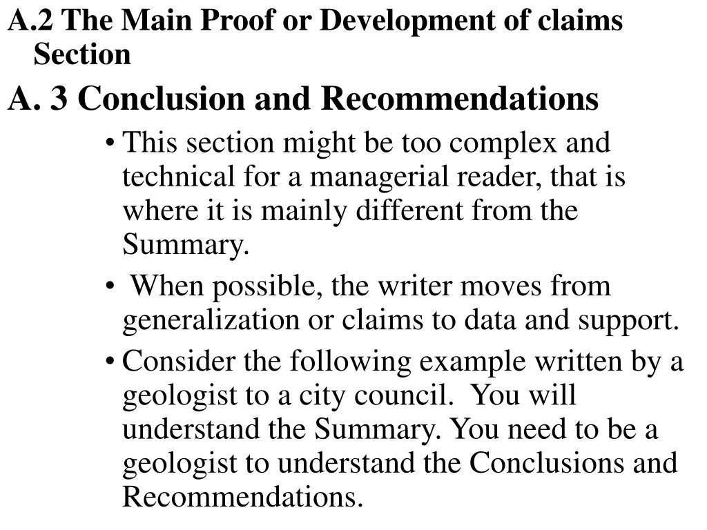 A.2 The Main Proof or Development of claims  Section