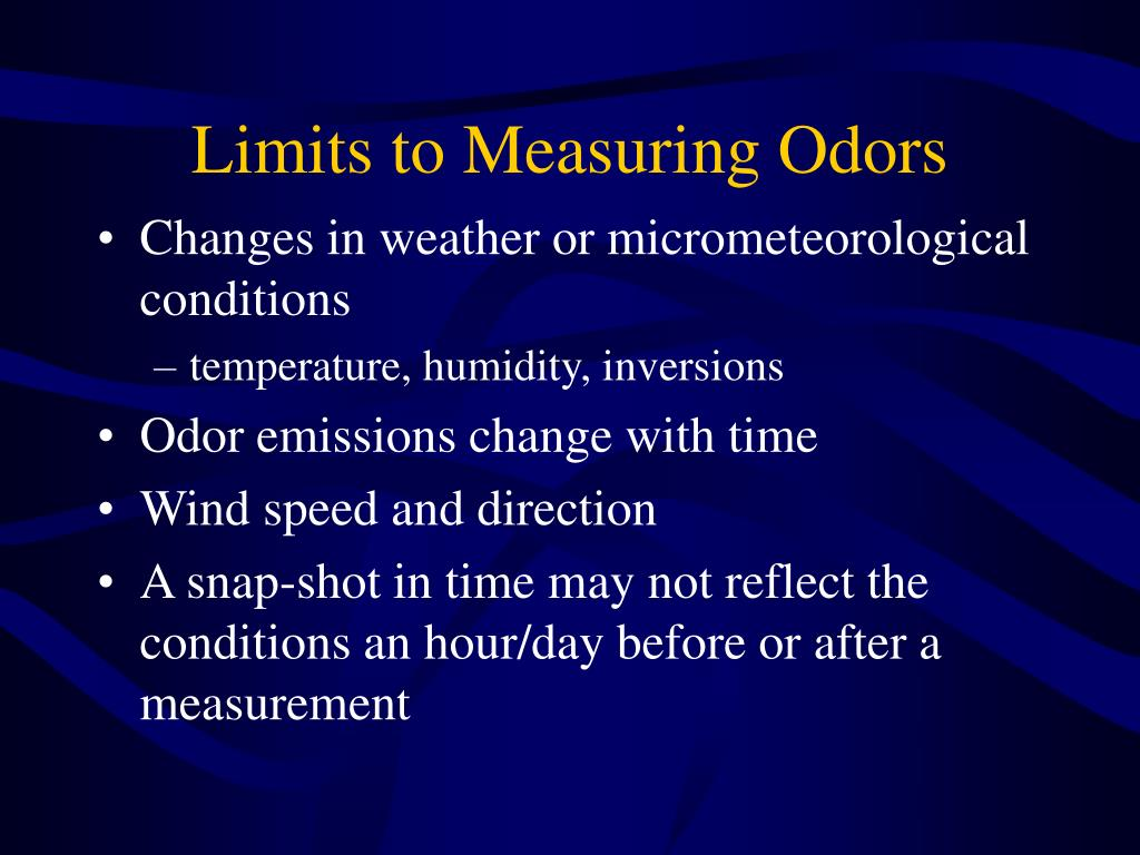 Limits to Measuring Odors