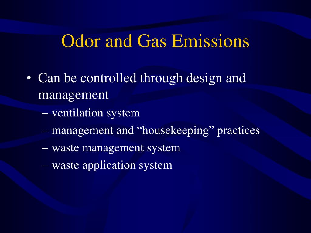 Odor and Gas Emissions