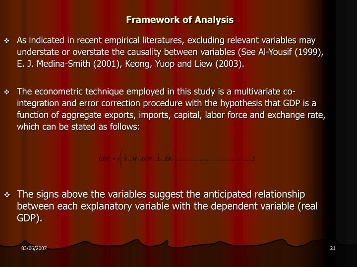 Framework of Analysis