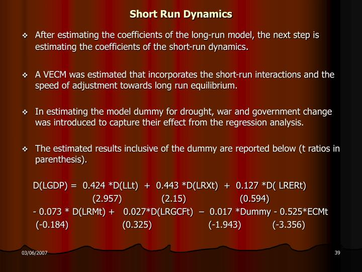 Short Run Dynamics