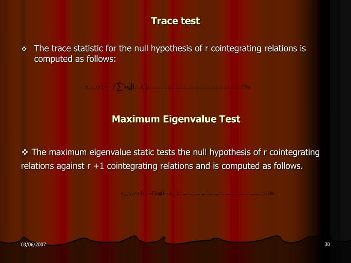 Trace test