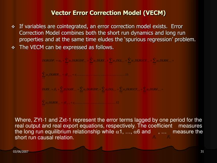 Vector Error Correction Model (VECM)