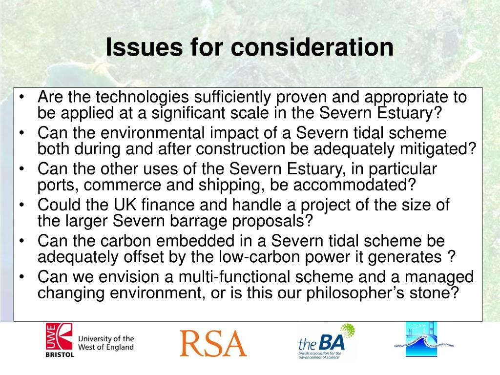 Are the technologies sufficiently proven and appropriate to be applied at a significant scale in the Severn Estuary?
