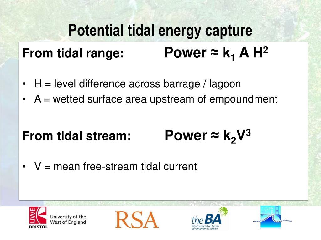 From tidal range: