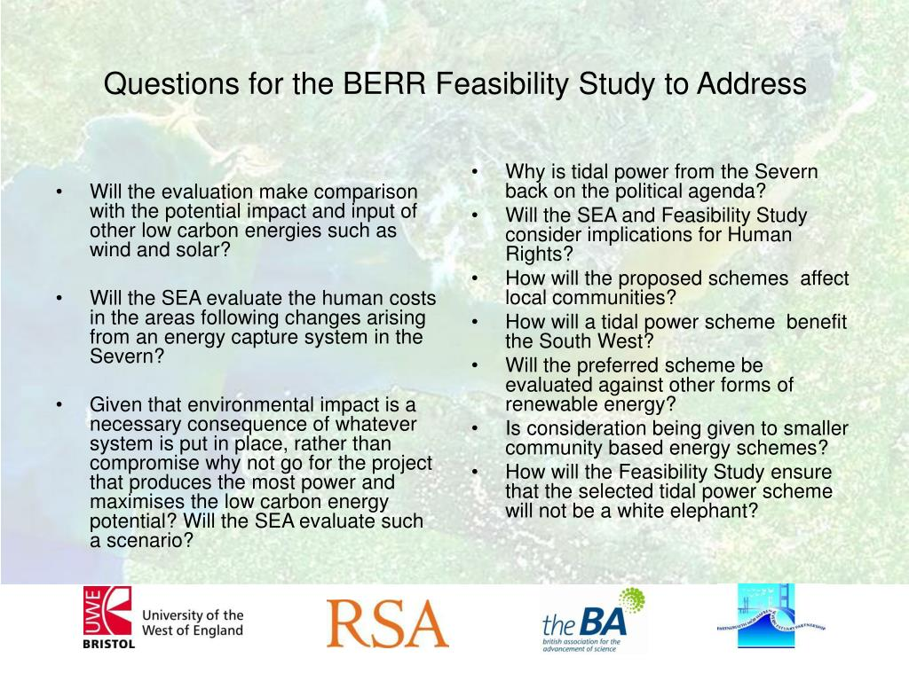 Will the evaluation make comparison with the potential impact and input of other low carbon energies such as wind and solar?
