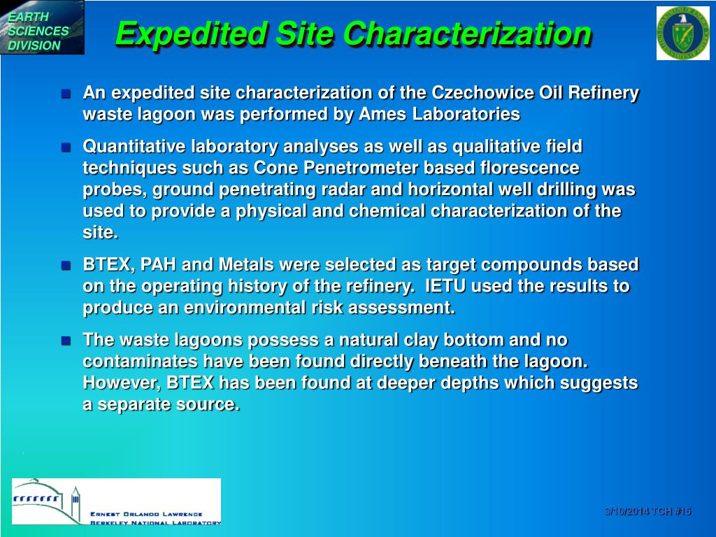 Expedited Site Characterization