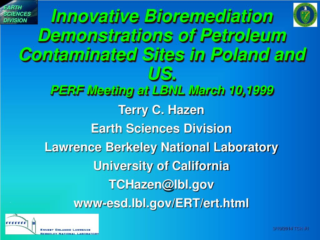 Innovative Bioremediation Demonstrations of Petroleum Contaminated Sites in Poland and US.
